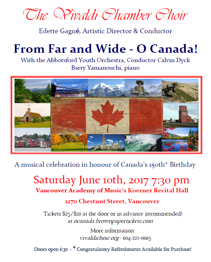 From Far and Wide O Canada 150th Celebration